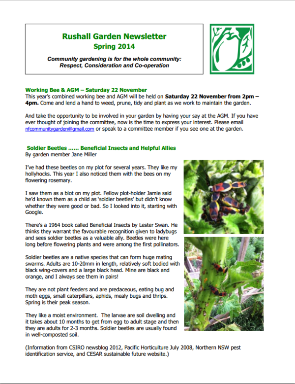 NFCGG Newsletter Spring 2014 - page 1