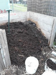 Compost about to be distributed