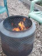 Warming winter fire