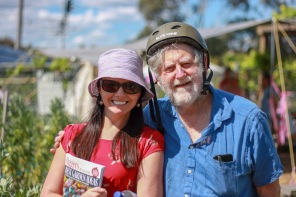 Committee member Dani with Clive Blazey