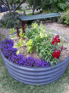 One of the new circular beds